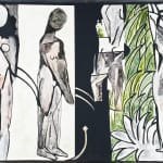 Bathers by a River (Reverse collage of 1916 Matisse painting)