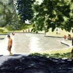 Men at the Wading Pool, Greenlake