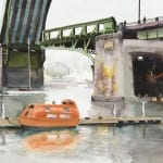 Ballard Bridge with Oceangoing Lifeboat