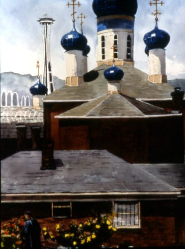 Blue Domes Of Russian Orthodoxy