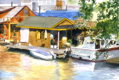 Houseboats On The Ship Canal